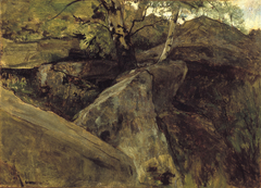 Landschap met rotsen, Fontainebleau