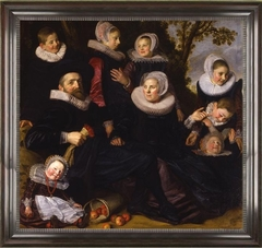 Left half of Gijsbert Claesz. van Campen family portrait