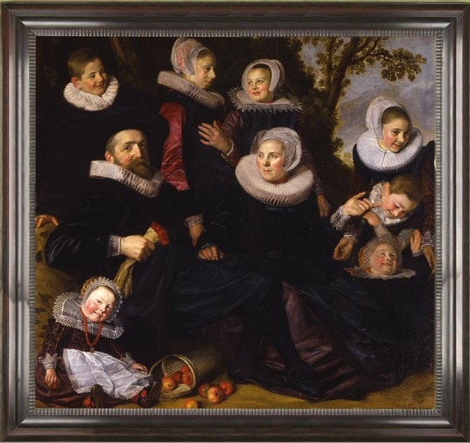 Left half of Gijsbert Claesz. van Campen family portrait