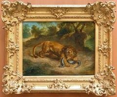 Lion et Caïman