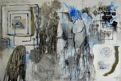 M-D Labyrinth,100X150 mixed media on canvas