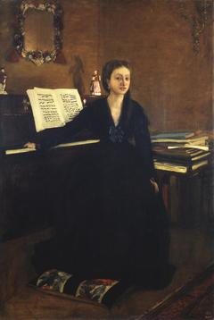 Madame Camus at the Piano
