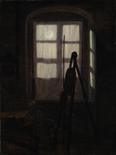 Malerstube im Mondschein
