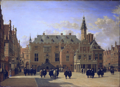 Market Place at Haarlem, Looking towards the Town Hall