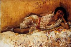 Moorish Girl Lying on a Couch