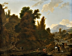 Mountain Landscape with Cattle Herders