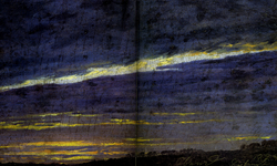 Nightly cloudy sky / Evening