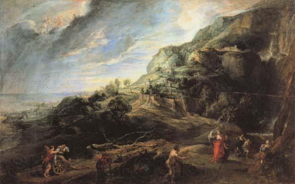 Odysseus on the island of the Phaecians