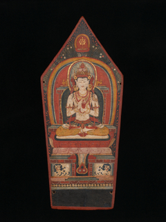 Panel from a Buddhist Ritual Crown Depicting Vairocana