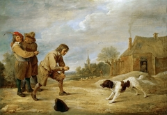 Peasant boy with his dog