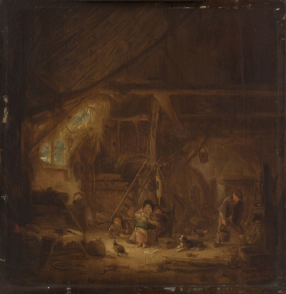Peasants in a Barn
