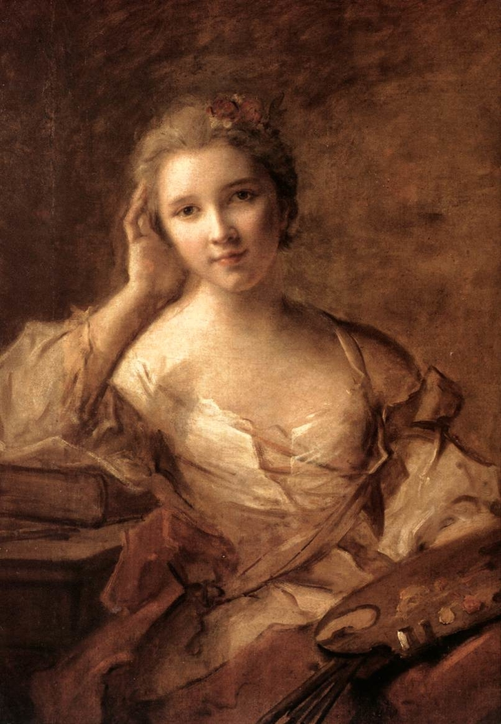 Portrait d'une jeune femme peintre