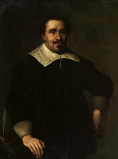 Portrait of a man aged 39 with an inkwell