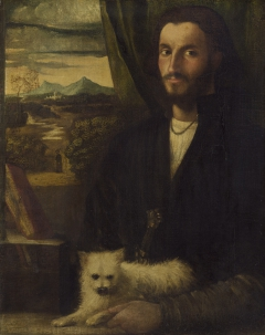 Portrait of a Man with a Dog
