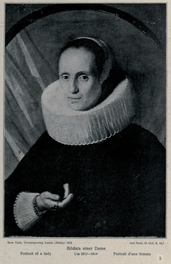 Portrait of a woman in a ruff collar