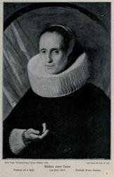 Portrait of a woman in a ruff collar