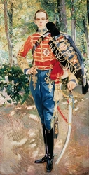 Portrait of Alfonso XIII in the Uniform of a Hussar