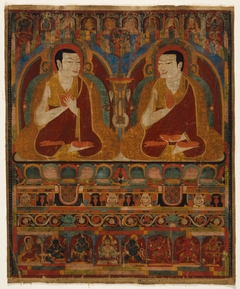 Portrait of Two Taklung Lamas