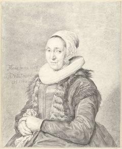 Portret van een vrouw, naar links