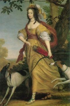 Portret van prinses Louise Hollandine van de Palts (1622-1709) als Diana