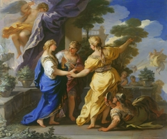Psyche's Sisters Giving her a Lamp and a Dagger