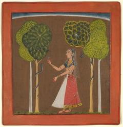 Ragini, possibly Asavari: Folio from a Ragamala Series