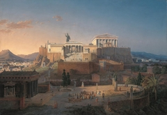 Reconstruction of the Acropolis and Areopagus in Athens