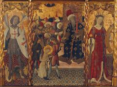 Saint Michael, Martyrdom of Saint Eulalia and Saint Catherine