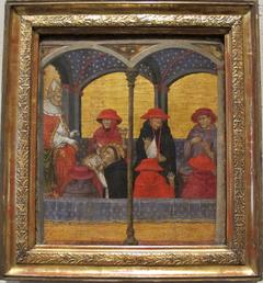 Saint Thomas Aquinas Submitting His Office of Corpus Domini to Pope Urban IV