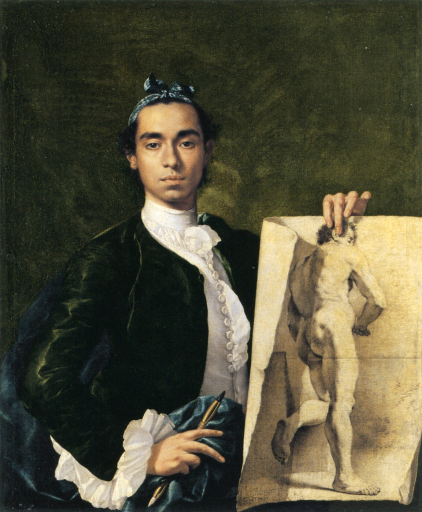 Self-portrait Holding an Academic Study