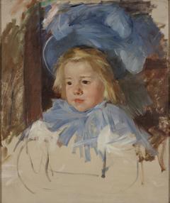 Simone in a Blue Bonnet