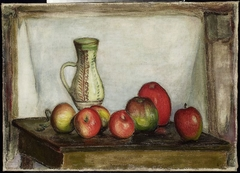 Still life – apples and a pitcher