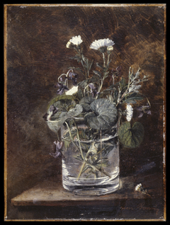Still Life: Daisies and Violets