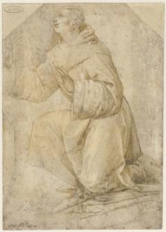 Studie voor de heilige Franciscus die de stigmata ontvangt