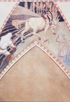 Study for the fresco Ilmarinen ploughing the Viper-field
