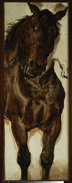 """Study of a horse's head for """"Battle of Grunwald"""""""