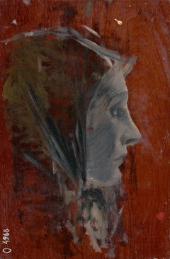 Study of Female Head from Profile