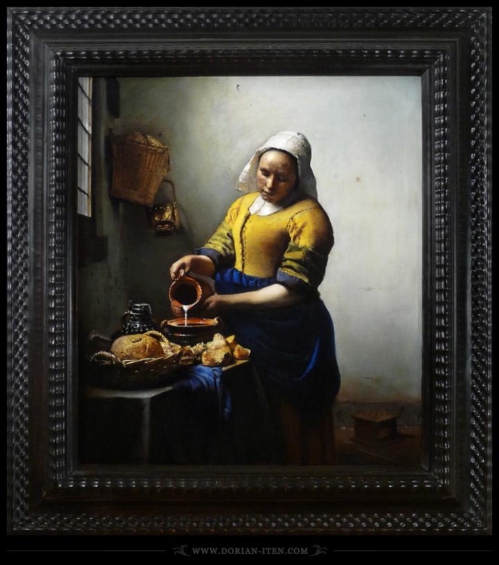Study of Vermeer's Milkmaid