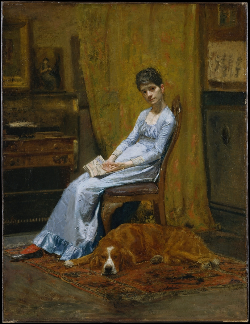 The Artist's Wife and His Setter Dog