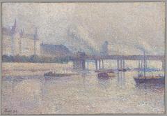 The Banks of the Seine River inPari