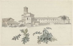 The Basilica of Santi Giovanni e Paolo in Rome, with Two Studies of Plants