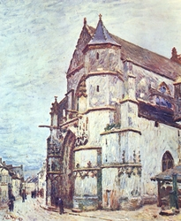The Church in Moret after the Rain