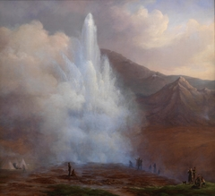 The Eruption of the Great Geyser in Iceland in 1834