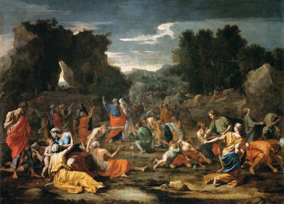 The Israelites gathering Manna in the Desert