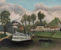 The Laundry Boat of Pont de Charenton (Le Bateau-lavoir du Pont de Charenton)