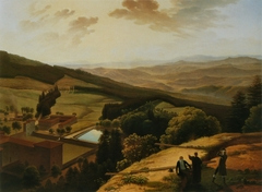The Monastery of Vallombrosa and the Arno Valley Seen from Paradisino