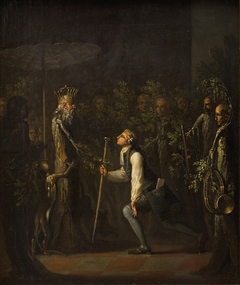 The Potuans are Surprised to see Niels Klim Genuflect in front of the Wise Prince.