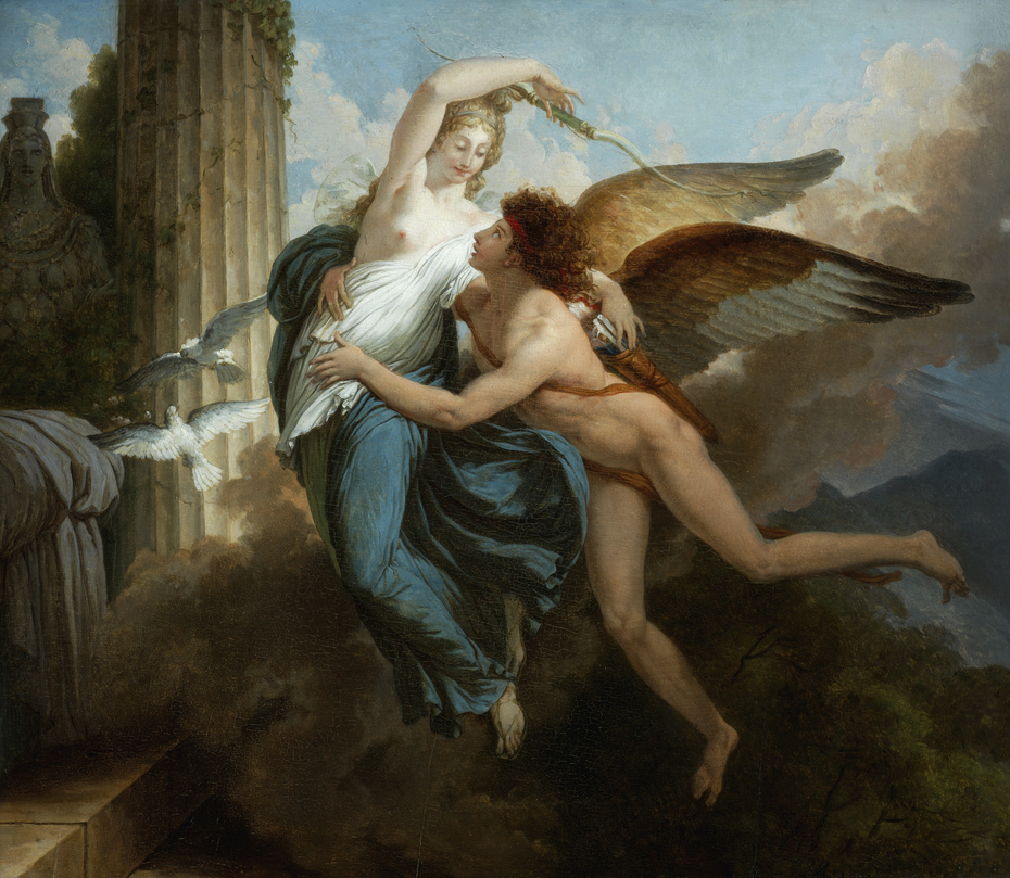 the reunion of cupid and psyche jean pierre saint ours artwork on