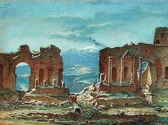 The Ruins of Teatro Greco in Taormina, Sicily