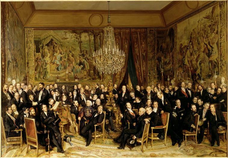 The Salon of Count of Nieuwerkerke (Une soirée au Louvre chez le comte de Nieuwerkerke)
